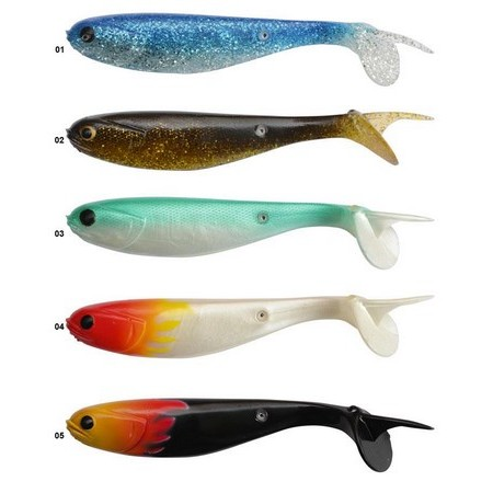 SOFT LURE BLACK CAT MULLET SHAD - PACK OF 2