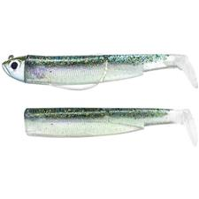 SOFT LURE FIIISH COMBO BLACK MINNOW 120 + SHORE JIG HEAD