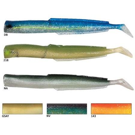 SOFT LURE FLASHMER BLUE EQUILLE 13CM - PACK OF 15
