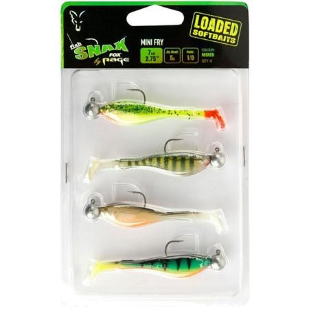SOFT LURE PACK FOX RAGE MINI FRY LOADED MIXED COLOUR