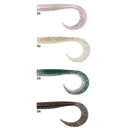 SOFT LURE SAVAGE GEAR SANDEEL CURLTAILS - 14CM - PACK OF 4