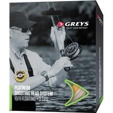 Fly Lines Greys PLATINUM SHOOTING HEAD SYSTEM WF10/11 INTERMÉDIAIRE GREEN ORANGE