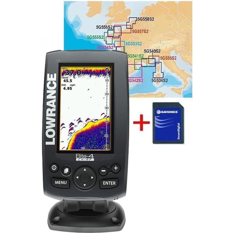 sondeur gps couleur lowrance elite 4 chirp sonde ta 83. Black Bedroom Furniture Sets. Home Design Ideas