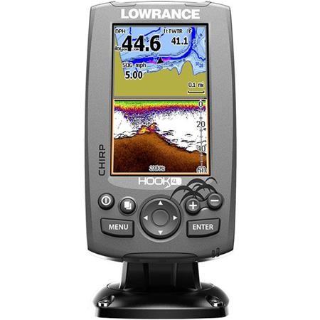 SONDEUR / GPS COULEUR LOWRANCE HOOK-4 CHIRP TA