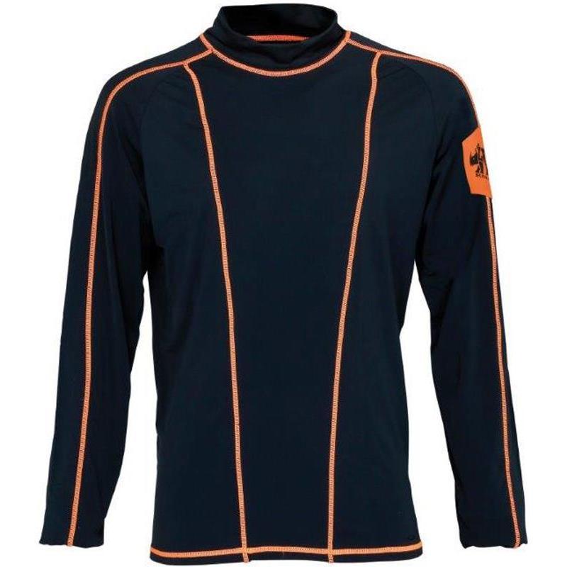 sous vetement tee shirt homme ligne verney carron rhino noir orange. Black Bedroom Furniture Sets. Home Design Ideas