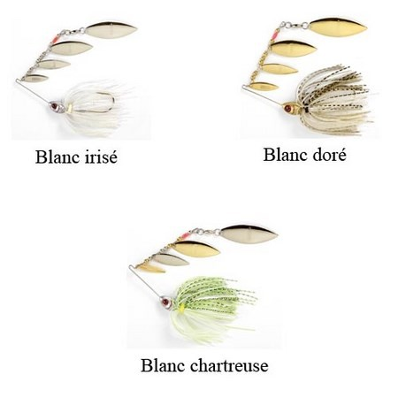 SPINNERBAIT BOOYAH SUPER SHAD - PACK DE 3