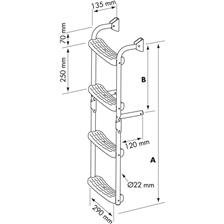 STAINLESS STEEL FOLDING LADDER PLASTIMO 90°