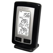 STATION THERMOMETER LA CROSSE TECHNOLOGY INTERIEUR/EXTERIEUR - NOIR/ARGENT