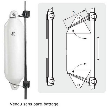 SUPPORT UNIVERSEL POUR PARE-BATTAGE PLASTIMO