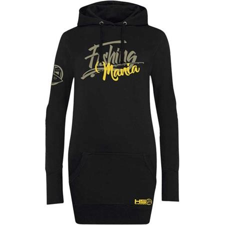 SWEAT FEMME HOT SPOT DESIGN LONG HOODIE FISHING MANIA - NOIR