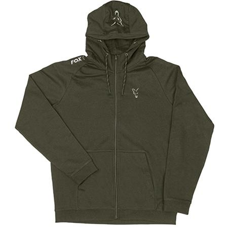 SWEAT HOMME A CAPUCHE FOX COLLECTION LW ZIPPE - GREEN/SILVER