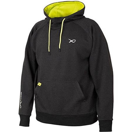 SWEAT HOMME A CAPUCHE FOX MATRIX MINIMAL BLACK MARL