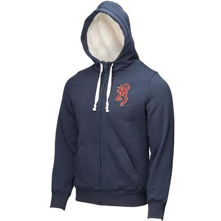 SWEAT HOMME BROWNING SNAPSHOT WARM - BLEU