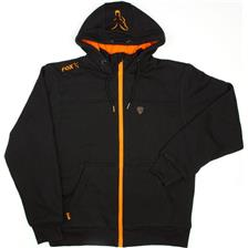 SWEAT HOMME FOX BLACK/ORANGE HEAVY LINED HOODY