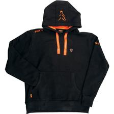 BLACK/ORANGE HOODY S