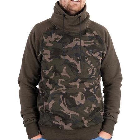 SWEAT HOMME FOX KHAKI/CAMO HIGH NECK - KAKI/CAMO