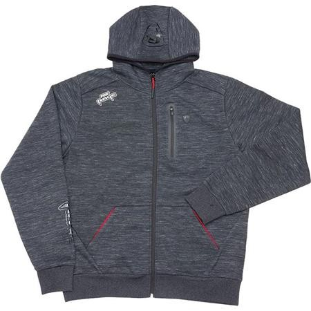 SWEAT HOMME FOX RAGE FLECK HOODY - GRIS