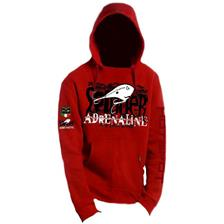 SWEAT HOMME HOT SPOT DESIGN ADRENALINE - ROUGE