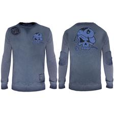 SWEAT HOMME HOT SPOT DESIGN CRANK FOREVER - BLEU