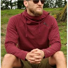 SWEAT HOMME KORDA LE LIGHTWEIGHT HOODIE BURGUNDY - BORDEAUX