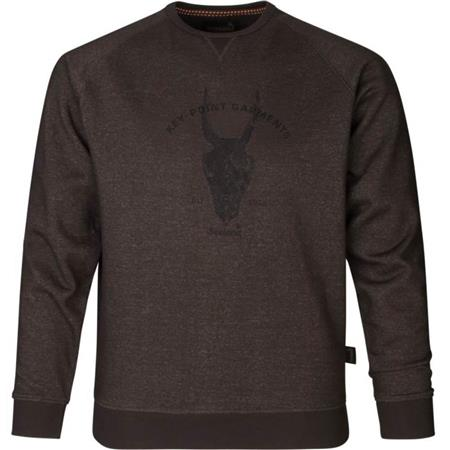 SWEAT HOMME SEELAND KEY-POINT - MARRON