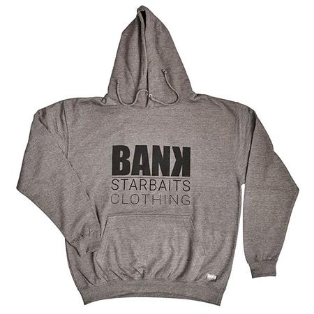 SWEAT HOMME STARBAITS BANK SQUARE - GRIS