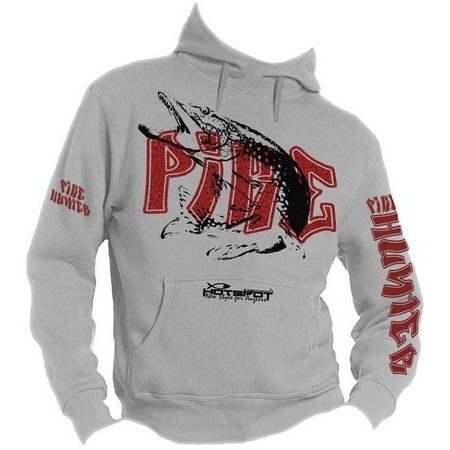 SWEATER HEREN HOT SPOT DESIGN PIKE HUNTER - GRIJS