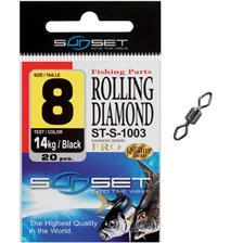 SWIVEL SUNSET ROLLING DIAMOND ST-S-1003 - PACK OF 20