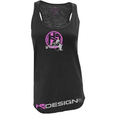 T - SHIRT DONNA HOT SPOT DESIGN SINGLET LADY ANGLER - NERO