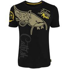 T-Shirt Uomo - Nero Hot Spot Design Fishing Mania Catfish