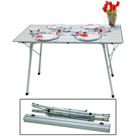 Table pliante euromarine aluminium 4 personnes for Table 4 personnes