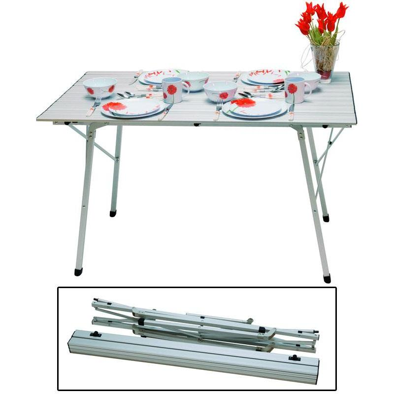 Table pliante euromarine aluminium 4 personnes for Table 4 personnes dimensions