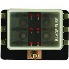 TABLEAU POUR FUSIBLE ENFICHABLE EUROMARINE AVEC TEMOIN LED