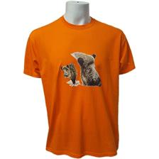 TEE SHIRT MANCHES COURTES HOMME BARTAVEL 2 SANGLIERS - ORANGE