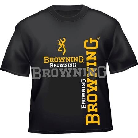 TEE SHIRT MANCHES COURTES HOMME BROWNING - NOIR