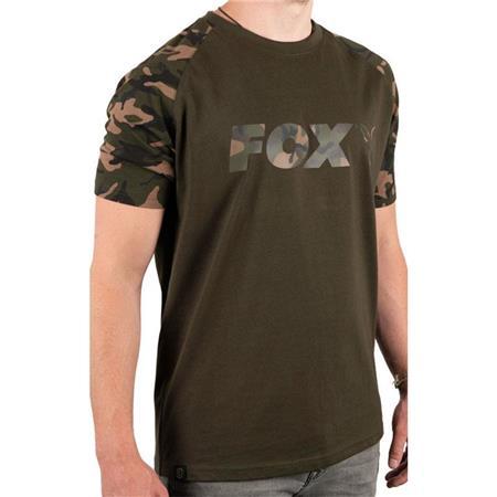 TEE SHIRT MANCHES COURTES HOMME FOX CHEST PRINT T-SHIRT - KAKI/CAMO