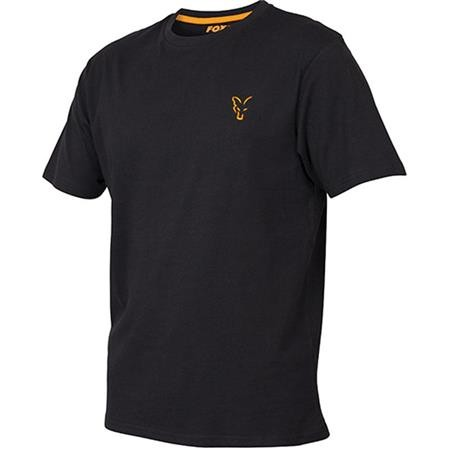 TEE SHIRT MANCHES COURTES HOMME FOX COLLECTION - BLACK/ORANGE