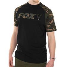 Apparel Fox RAGLAN T SHIRT BLACK/CAMO NOIR