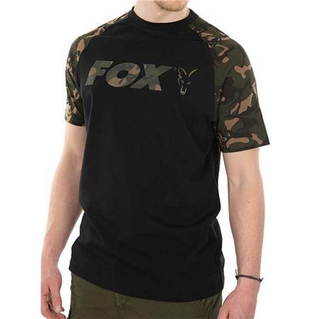 TEE SHIRT MANCHES COURTES HOMME FOX RAGLAN T-SHIRT BLACK/CAMO - NOIR
