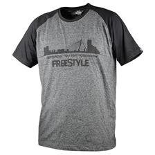 Apparel Freestyle TEE SHIRT MANCHES COURTES HOMME GRIS/NOIR TAILLE L