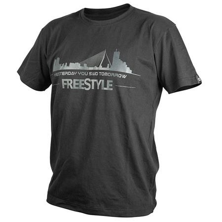 TEE SHIRT MANCHES COURTES HOMME FREESTYLE - NOIR