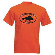 Apparel French Touch Fishing TEE SHIRT MANCHES COURTES HOMME ORANGE TAILLE S