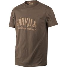 TEE SHIRT MANCHES COURTES HOMME HARKILA - MARRON