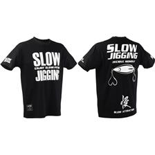 TEE SHIRT MANCHES COURTES HOMME HEARTY RISE SLOW JIGGING - NOIR