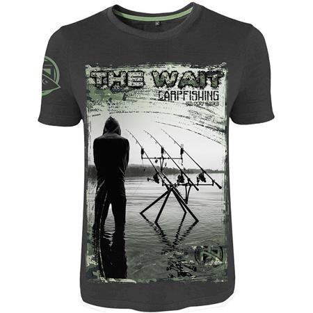TEE SHIRT MANCHES COURTES HOMME HOT SPOT DESIGN CARPFISHING IS MY LIFE - GRIS