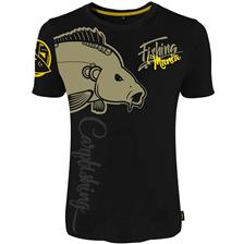 TEE SHIRT MANCHES COURTES HOMME HOT SPOT DESIGN FISHING MANIA CARPFISHING - NOIR