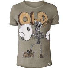 Tee Shirt Manches Courtes Homme Hot Spot Design Old School 2.0 - Beige