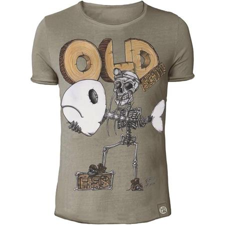 TEE SHIRT MANCHES COURTES HOMME HOT SPOT DESIGN OLD SCHOOL 2.0 - BEIGE