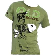 TEE SHIRT MANCHES COURTES HOMME HOT SPOT DESIGN OLD SCHOOL - VERT