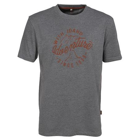 TEE SHIRT MANCHES COURTES HOMME IDAHO TENNESSEE - GRIS